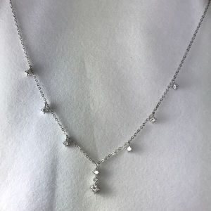 Silver crystal necklace cookie lee
